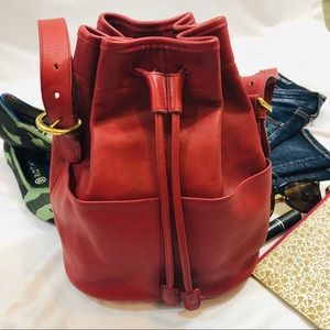 Vintage COACH Red bucket bag usa